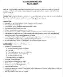Rn Job Description Resume Cna Job Description Resume Picture Gallery Of Cna Job Description