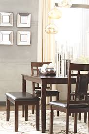 bennox dining room table and chairs with bench set of 6 ashley