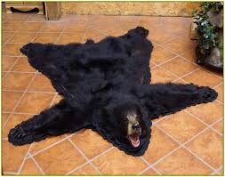 fake bear skin rug home design ideas