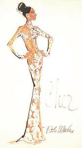 bob mackie costume sketch for carol burnette the infamous