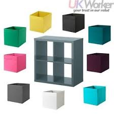 Ikea Kallax Shelving by Ikea Kallax Shelving Unit Grey Turquoise 77x77cm With 4 X Drona