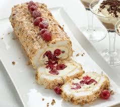 chestnut meringue roulade with hazelnut liqueur cream recipe