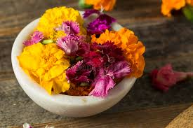 organic edible flowers organic edible flowers stock image image of gourmet 91423203