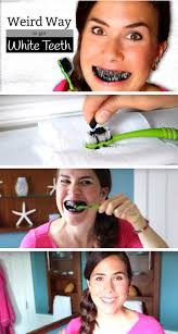 she brushes activated charcoal onto her teeth the results your