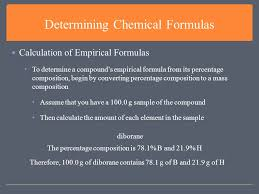 chemical formulas and compounds determining chemical formulas