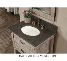 Rustic Bathroom Cabinets Vanities - accos 30 inch rustic bathroom vanity with matching wall mirror