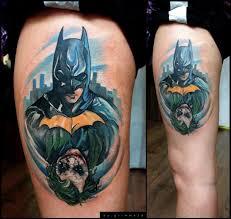 batman joker thigh tattoo by grimmy 3d tattoo