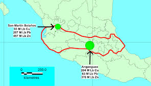 Mexico On Map Trans Mexican Volcanic Belt Gambusino Prospector