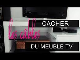 meuble tv caché diy cacher les câbles du meuble tv