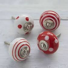 extra large vintage colourful ceramic cupboard knobs cupboard