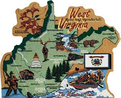 Map Of Wv State Map West Virginia The Cat U0027s Meow Village