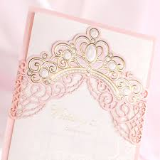 Embossed Invitation Cards Aliexpress Com Buy Laser Cut Wedding Invitations Cards With Gold
