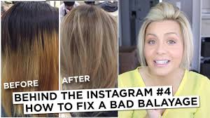 should wash hair before bayalage behind the instagram 4 how to fix a bad balayage youtube