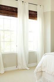 White Bamboo Curtains White Curtains With These Blinds B E D R O O M Pinterest