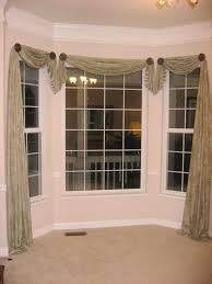 bay window treatments elegant curtains for bay windows with brown