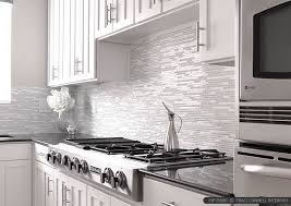 WHITE MODERN BACKSPLASH Ideas Glass Marble Mosaic Tile - Modern backsplash