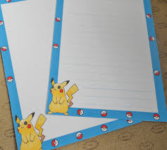 writing stationery paper letter paper pokemon pikachu geek stationery cute note zoom
