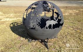 Sphere Fire Pit by Creative Firepit Inc Custom Handmade Fire Pit Globe Art