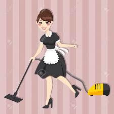 sexe femme de chambre femme au foyer au nettoyage de ménage robe vintage en