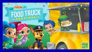 paw patrol nick jr food truck festival games kids