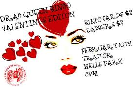 drag queen bingo valentines edition tractor brewing company