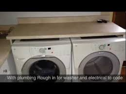 table top washer dryer washer and dryer installation youtube