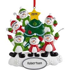 personalized snowman family ornament 6 walmart