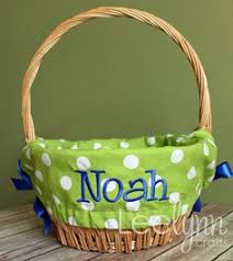 monogrammed basket easter basket liner i like the bias edge instead of the