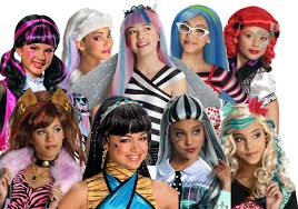 Monster High Halloween Pictures by Monster High Wigs Girls Halloween Fancy Dress Kids Childs Costume