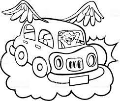 flying car line art stock vector art 96886663 istock