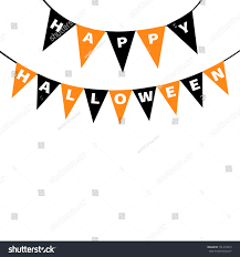 happy halloween card bunting flags pack stock vector 701419819