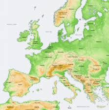 Simple Map Of Europe by Europe Geocurrents