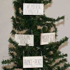 set of four scripture ornaments ms made foods gifts and home decor