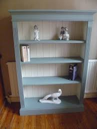 Cream Wood Bookcase Bookcase Cream Distressed Shabby Chicready To By Rusticfurnishings
