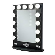 professional makeup lighting broadway lighted vanity mirror gloss black