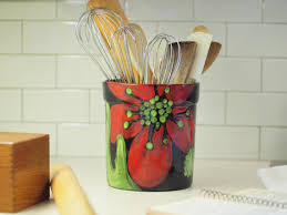 kitchen utensil canister utensil canister utensil crock kitchen utensil holder