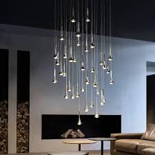 Cluster Pendant Light Studio Italia Design Rain Cluster 14 Lights Round Pendant Light