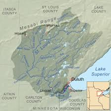 Map Of St Louis Cloquet River Wikipedia