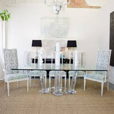 tables park eighth lucite glass dining table