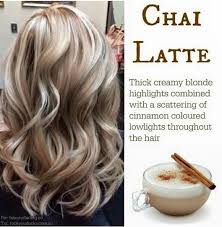 low light colors for blonde hair chai latte creamy blonde highlights with cinnamon lowlights