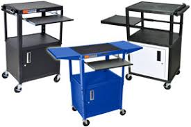 multimedia cart with locking cabinet audio visual carts classroom office media trolleys with cabinets