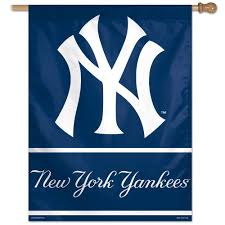 Yankee Flags Amazon Com Mlb New York Yankees 27 By 37 Inch Vertical Flag