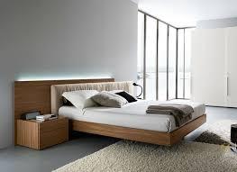 modern bedgroup set with fabric headboard in italian walnut iowa