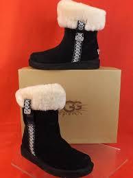 ugg australia s rianne boots ugg australia suede metro tas fur cuff 5 36 black boots