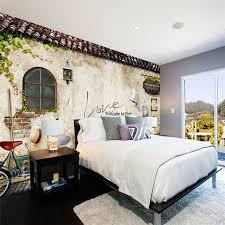 customized mural wallpaper nostalgic retro brick wallpaper bedroom