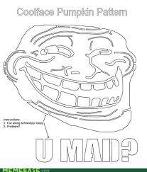 Meme Pumpkin Stencil - trollface pumpkin pattern memebase funny memes