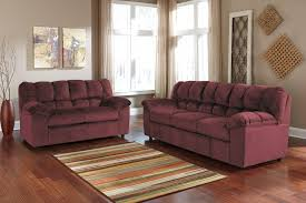 Ashley Leather Sofa And Loveseat Signature Design By Ashley Julson Burgundy Stationary Living