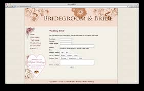 Marriage Invitation Websites Wedding Rsvp Website Template Pacq Co