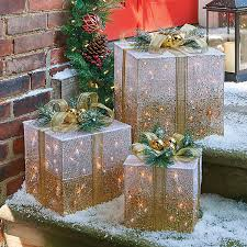 pre lit christmas gift boxes improvements lighted gift box christmas decor set of 3 50