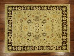 Green Persian Rug New Light Green Brown Hand Knotted Soumak 9 U0027 X 12 U0027 Flat Weave